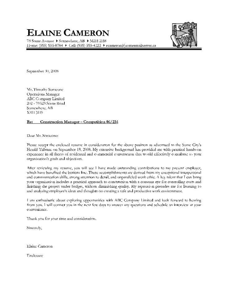 Best 25 Cover letter sample ideas – Sample Job Application Cover Letter Template