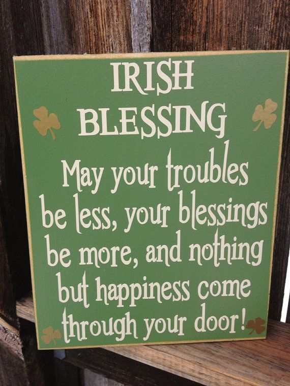 Irish BlessingSt. Patrick's day sign by BuzzingBeesCrafts on Etsy, $18.00