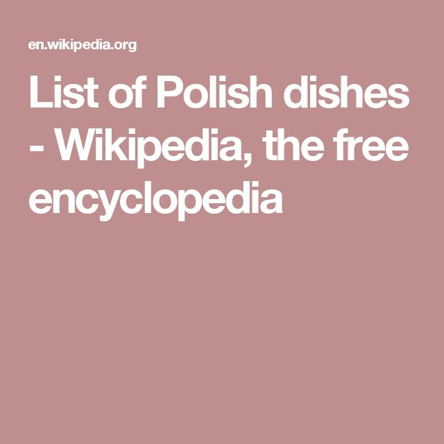13 best pharmacovigilance consultant images on pinterest safety list of polish dishes wikipedia the free encyclopedia fandeluxe Images
