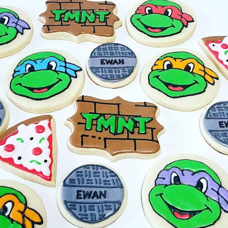 Teenage Mutant Ninja Turtle cookies