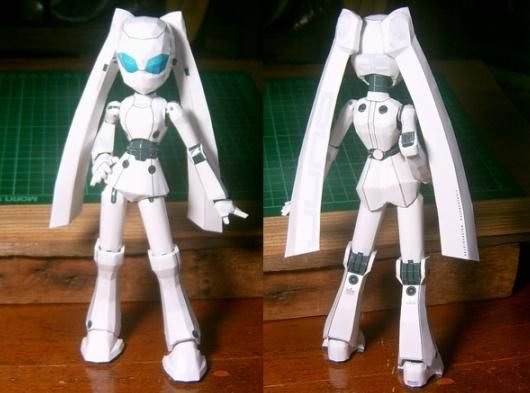 Drossel Robot Paper Doll In Anime Style - by Bezy - via Pepakura Gallery     ===         Another robot, because robots are never enough! This little robot paper doll in Anime style was created by designer Bezy and was originally posted at Pepakura Gallery. To view and print this model you will nedd Pepakura Viewer Free Version (link at the end of this post).