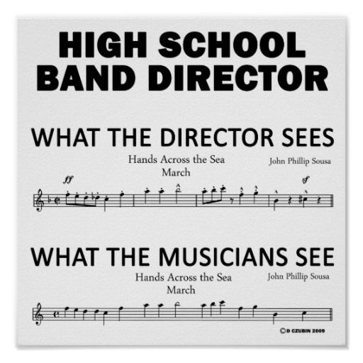What the High School Band Sees Print