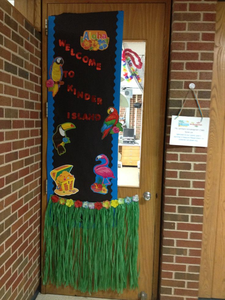 Welcome to kinder island! My beach/island themed classroom!