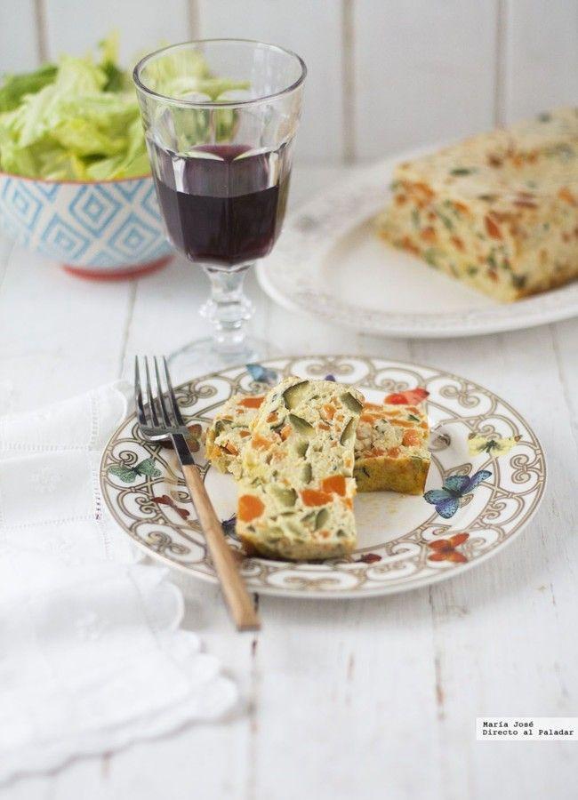 Plum-cake de verduras. Receta con Thermomix