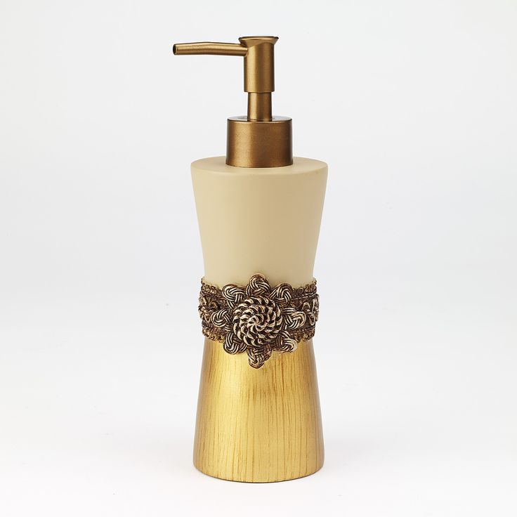 braided medallion gold bathroom accessories
