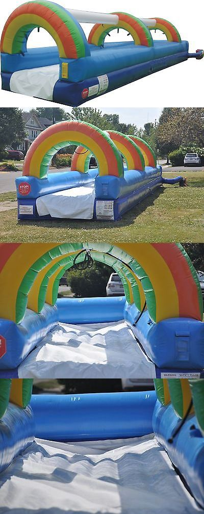 Inflatable Bouncers 145979: 30 Commercial Inflatable Water Slides Single Slip Bounce House Tentandtable® -> BUY IT NOW ONLY: $1400 on eBay!