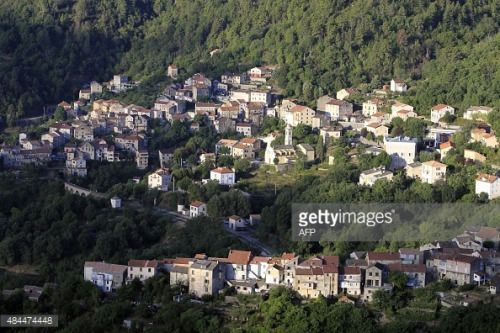 A picture taken on August 18, 2015 shows the village of…... #venaco: A picture taken on August 18, 2015 shows the village of…… #venaco