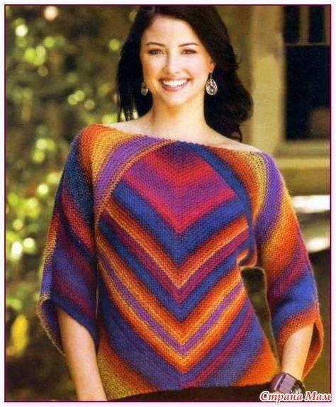 Пуловер с диагональными полосами - Жаккард - Страна Мам