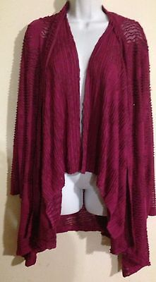 Great Cavalier by St Paul Burgundy Fish Net Sweater Over Coat 2 Piece Size M | eBay