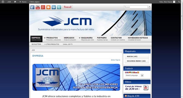 JCM - Suministros industriales para la manufactura del vidrio. Visita nuestra web