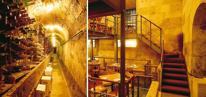 «CHAFARIZ DO VINHO»This is one of the most curious bars in the city, as it's found in a water reservoir of the city's aqueduct. Wine and #portuguese tapas in a well-lit stone interior. #Lisboa #Portugal