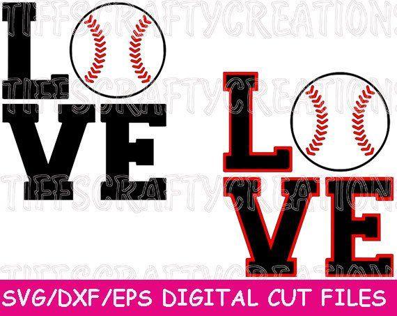 Love Baseball Svg Designs For Sister Or Mom Baseball Love Svg Etsy Baseball Svg Svg Cricut