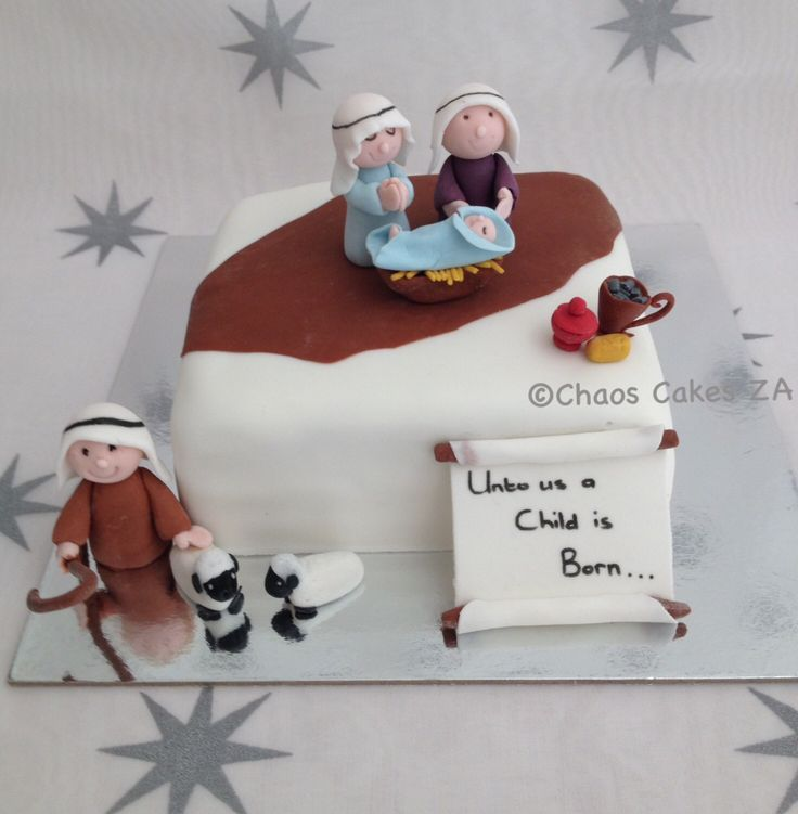 Unto us a child is born - Christmas cake by Chaos Cakes