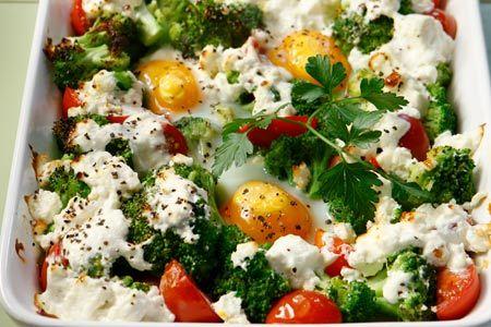 Μπρόκολο με αυγά μάτια και φέτα στο φούρνο - Γρήγορες Συνταγές | γαστρονόμος online