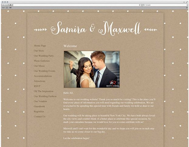 Free Wedding Websites From Love Vs Design
