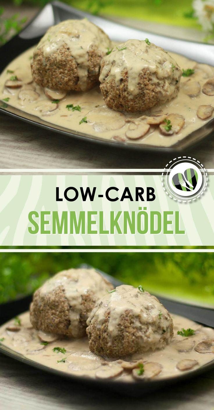 Die low-carb Semmelknödel sind lecker und eine gute kohlenhydratarme Alternative als Beilage.