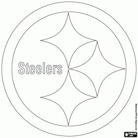 Pittsburgh Steelers logo, american football team in the North Division in the AFC, Pittsburgh, Pennsylvania coloring page