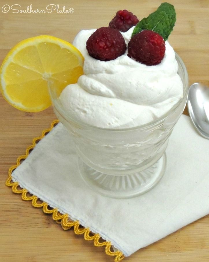 Simple Lemon Syllabub - as seen on Downton Abbey :)   http://www.southernplate.com/2014/01/simple-lemon-syllabub.html