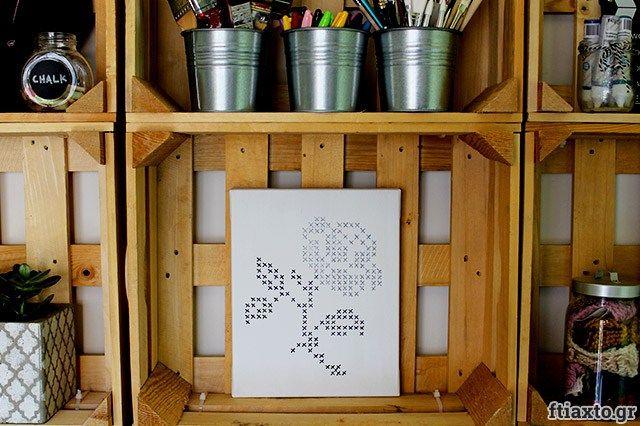 Ζωγραφιστή σταυροβελονιά σε καμβά