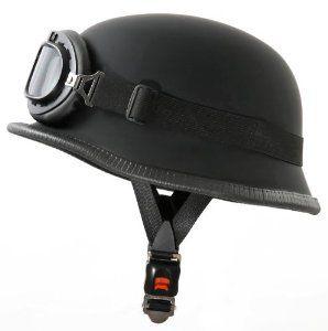 Motorradhelm im Wehrmacht Style mit Brille Größe M 57-58cm: Amazon.de: Motorrad