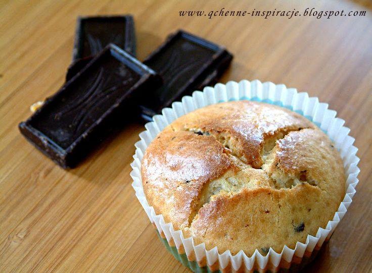 Qchenne-Inspiracje! FIT blog o zdrowym stylu życia i zdrowym odżywianiu. Kaloryczność potraw. : Orkiszowe babeczki z gorzką czekoladą