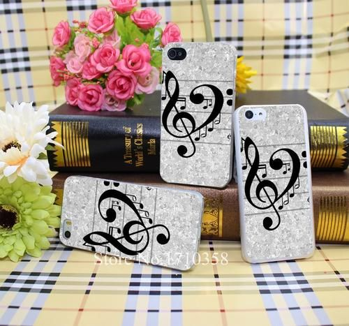 love music Style Hard Transparent Phone Cases Cover for iPhone 7 7 Plus 5 5s 4 4s 6 plus 5c Clear