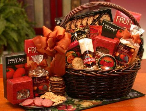 Deluxe World of Thank You Gourmet Gift Basket