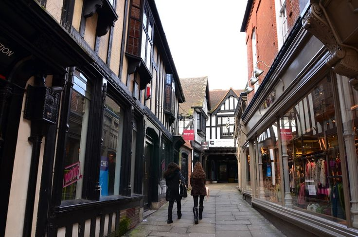 The old city of Ipswich and its medieval streets, Suffolk, England
