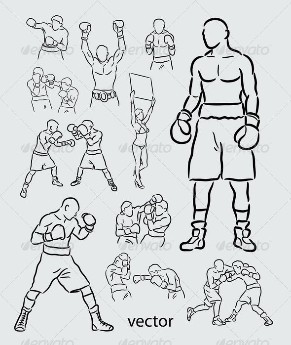 Boxing Sketches  #GraphicRiver         Spontaneous boxing sport drawing vector. Good use for your logo, symbol, or sport event design. (Can use any size you want, without loss resolution). ZIP included : .AI rgb, .EPS cmyk, JPEG high resolution, and PNG transparent background.     Created: 22June13 GraphicsFilesIncluded: TransparentPNG #JPGImage #VectorEPS #AIIllustrator Layered: No MinimumAdobeCSVersion: CS Tags: activity #boxer #boxing #champion #championship #character #clipart…