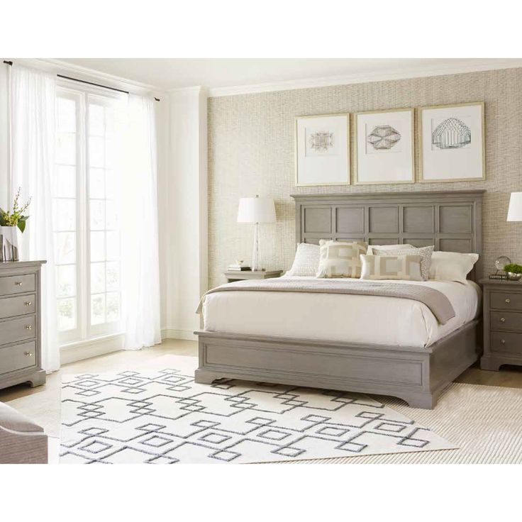 Stanley Furniture Transitional Panel Bed