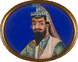 Nana Sahib, watercolour on ivory, c. 1857.png