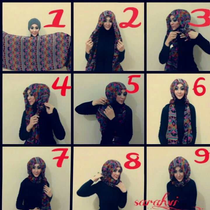 Knotted hijab tutorial