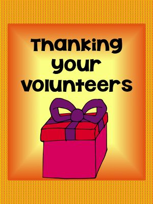 Thank you Volunteers - FREE for a short time - thank you gift for volunteers