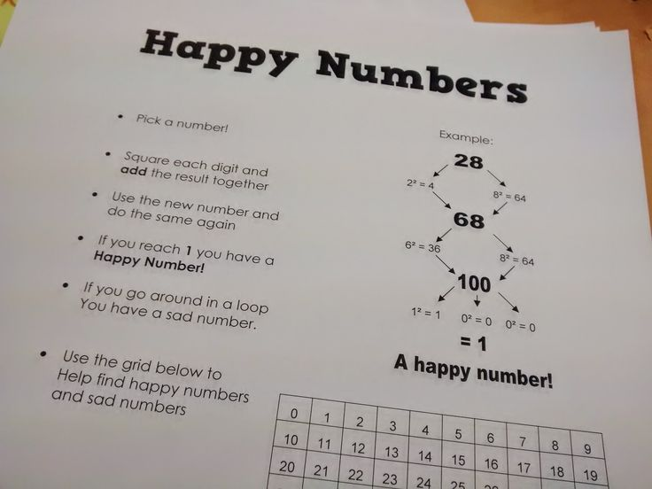 """Math = Love: Happy Numbers Make Me Happy :D - """"Happy Numbers"""" activity. Could be fun to use when discussing rational numbers and exponents - intro to patterns?"""