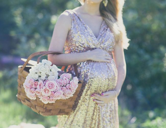 Glamorous Outdoor Maternity Session - Inspired By This