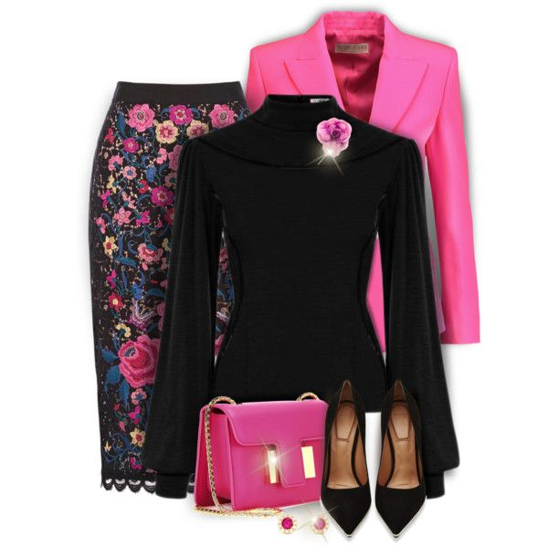 Black and Pink by kiki-bi on Polyvore featuring Emilio Pucci, Givenchy, Tom Ford, Effy Jewelry and Gucci
