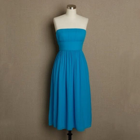 J crew Emily dress- size 6 J Crew Emily Dress   J Crew Emily Dress  Style: EMILY 73893   Color: cornsilk blue Size 6  Fully lined, knee length  Excellent Condition!  Worn once as bridesmaid dress!  #jcrew  #jcrewdress J. Crew Dresses