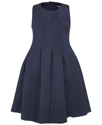 Girl's Pleat Scuba Dress - Bardot Junior