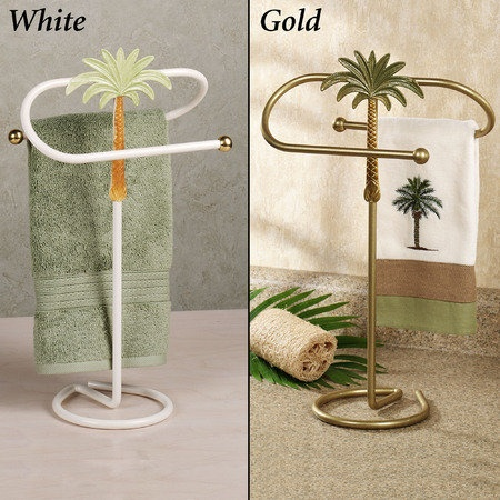 Palm Tree Guest Towel Holder Tapas Tropicales Tropical