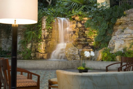 The Waterfall in the main lobby of the Crown Center Hotel in Kansas City