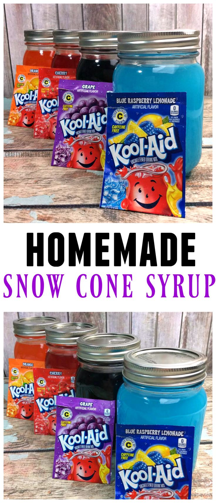 Homemade Snow Cone Syrup Recipe Using Kool-Aid Packets -8650