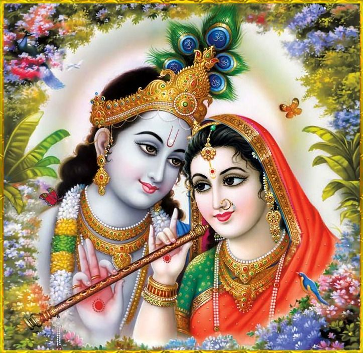 "✨ RADHA KRISHNA ✨ ""O nectar happiness of Shri Radha! O lotus flower growing in Gokula! O Krishna! O Hari! Glory, glory to You! O ornament of Shri Radha's ornaments! O sinless one! O king of Gokula's hearts! O Krishna! O Hari! Glory, glory to..."