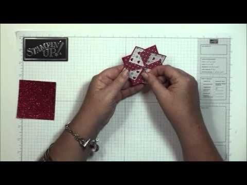 Pinwheel card ...cute for all holidays using patterned papers...just a nice design and something different