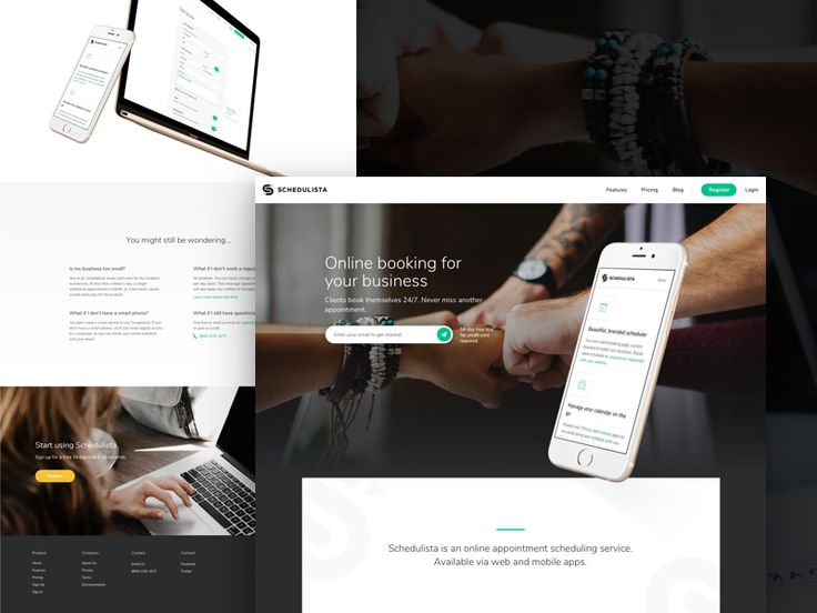 Landing for online scheduler  by Maria Shanina