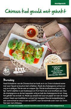 Recept voor Chinese kool gevuld met gehakt  #Lidl
