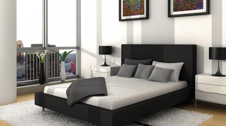 Schlafzimmer, Inspirierendes Schlafzimmerdesign, Schwarz Weiße Schlafzimmer,  Schlafzimmerdesign, Schöne Möbel, Möbeldesign, Innenarchitektur