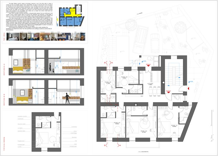 project_Bed & Breakfast Lodging in Sardinia, Italy | phase_Proposal | title_Floor plan & Sections | architects_JoNat Architects by Joanna Chamilou◦Natasa Markopoulou | year_2015