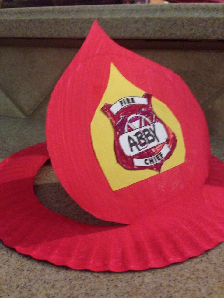 Fireman hat from paper plate                                                                                                                                                                                 More