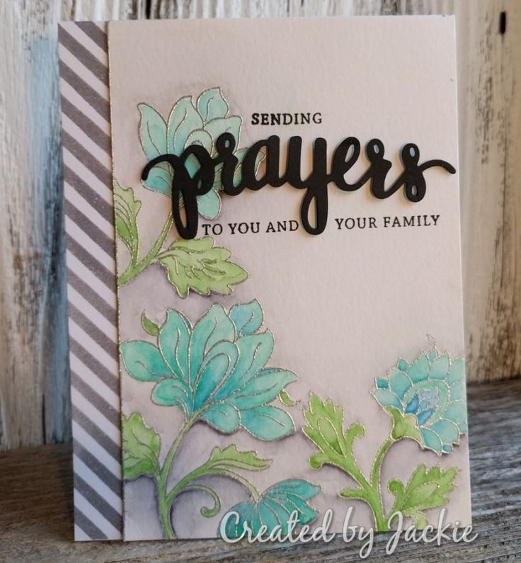Sending Prayers card - Altenew Persian Motifs + Hero Arts Prayers (card by jdsbill on SCS)