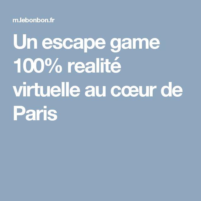 Un escape game 100% realité virtuelle au cœur de Paris
